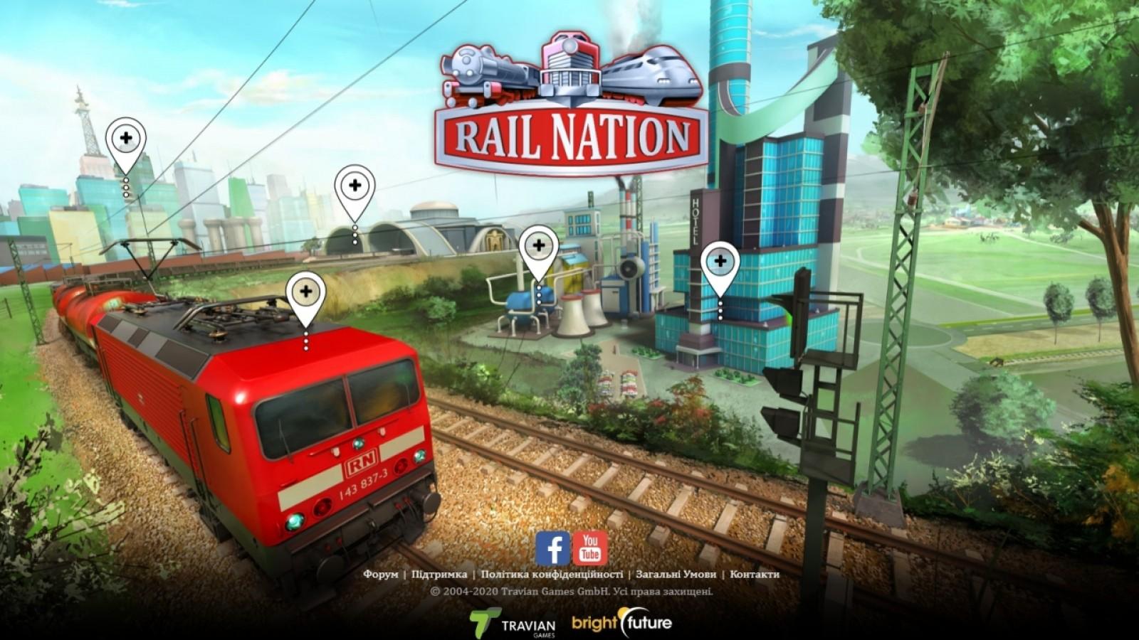 Браузерная игра Rail Nation - играть онлайн.